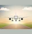 jet aeroplane on runway aircraft takeoff from vector image vector image