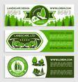 landscape design company banners set vector image vector image