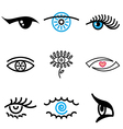 logo icons eyes vector image vector image
