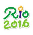 Logo symbol Brazil 2016 Rio de Janeiro for Olympic vector image vector image