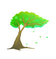 lonely tree isolated clip art hand drawn wood vector image