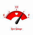 love gauge valentines day card design element vector image vector image