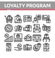 loyalty program for customer icons set vector image