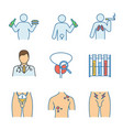 mens health color icons set vector image vector image