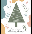 modern abstract hand drawing christmas doodles vector image vector image