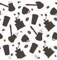 monochrome hand drawn coffee pattern vector image