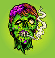monster cigarette weed halloween vector image vector image