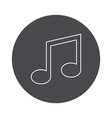 Music icon outline vector image