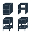 Office drawers vector image vector image