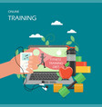 online training flat style design vector image