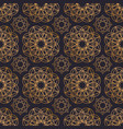 oriental seamless pattern with round geometric vector image vector image