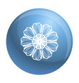 petal herb flower icon simple style vector image