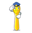 police character spoon plastic for kid meal vector image