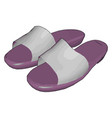 purple shoes on white background vector image vector image