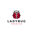 red lady bug beetle black dots logo icon vector image