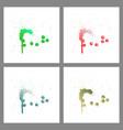 se of colorful paint splatterspaint splashes set vector image vector image