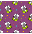 seamless pattern with baby monitor vector image