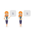 set happy and unhappy women or scout troop vector image