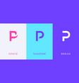 set letter p minimal logo icon design template vector image vector image
