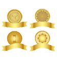 Set of golden design elements vector image vector image