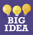 set of light bulbs big idea vector image vector image
