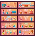 set of market signages in flat style vector image vector image