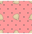 shell seamless pattern vector image vector image