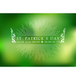 St Patricks day vintage label background vector image