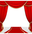 Theater stage with red curtain vector | Price: 1 Credit (USD $1)