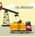 truck gas tank pump oil industry vector image