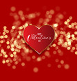 valentines day background with heart on bokeh vector image vector image