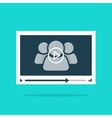 Video player interface abstract 3 persons play vector image vector image