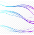 wavy futuristic fresh bright colorful swoosh vector image vector image