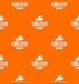 web globalization pattern orange vector image vector image