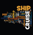 you too can live on a cruise ship text background vector image vector image