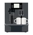 Coffee machine vector image