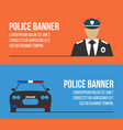 police logos and banners vector image