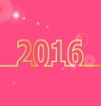 2016 Happy New Year on pink background vector image vector image