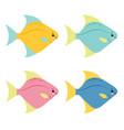 a cartoon set of rainbow colored vector image vector image