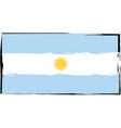 abstract argentinian flag or banner vector image vector image