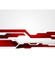 Abstract red geometric tech corporate design vector image vector image