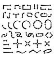 arrows black icons vector image vector image