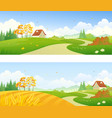 autumn country banners vector image vector image