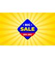 big sale 50percent off banner discount voucer logo vector image