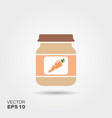 carrot baby food smoothies fruit puree vector image vector image