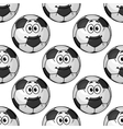 Cartoon cute soccer ball characters seamless vector image vector image