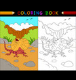 cartoon frilled lizard coloring book animals vector image