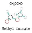CH3OCHO methyl formate molecule vector image vector image