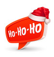 christmas bubble for speech and santa hat vector image