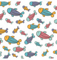 color fishes background icon vector image vector image